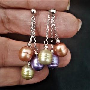 Honora Cultured Pearl Sterling Silver Earrings